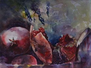 water color still life painting by Toska Courbron