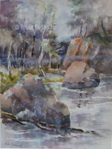 water color painting by Toska Courbron