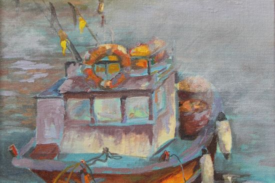 Amalfi Italy fishing boat by Toska Courbron