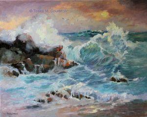 Coastal Oregon Seascape by Toska Courbron