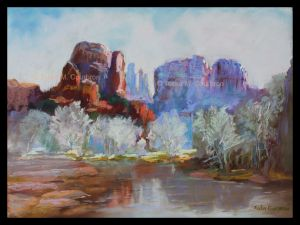 Pastel painting by Toska Courbron Sedona