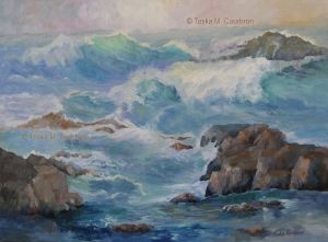 Seascape oil painting by Toska Courbron