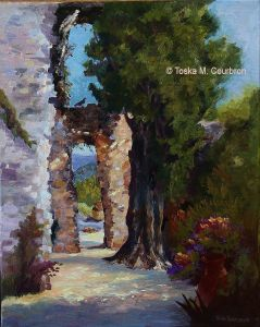 Plein Air oil painting Italy by Toska Courbron