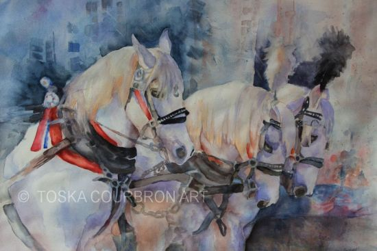 watercolor painting Parade Moment