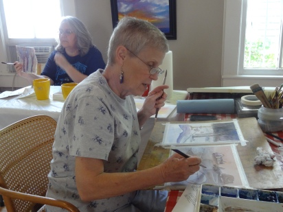 3-day Watercolor Workshop Host and Wonderful Artist--Jo Pate