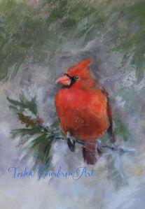 "#1082 ""Cardinal Christmas"" $700"